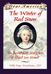 The Winter of Red Snow: The Revolutionary War Diary of Abigail Jane Stewart book cover